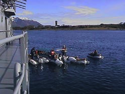 Motos acuáticas cruzaron el Cabo de Hornos